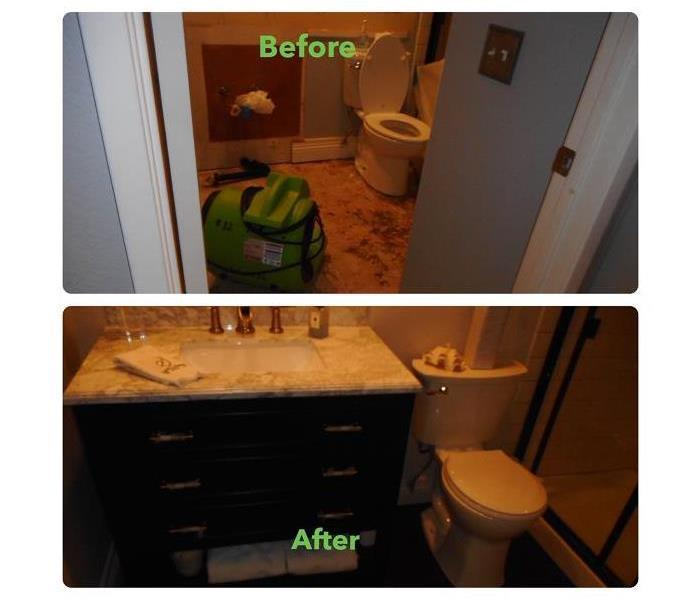 Before and after restoration services provided by SERVPRO of Mission Viejo.